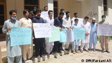 Juni 2020 *** Tribal Youth Forum protest in Bajor for restoration of internet facility in Tribal district. (c) DW-correspondent Farzani Ali