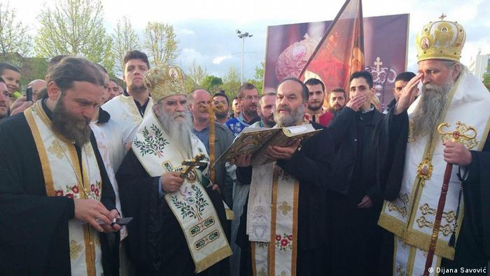 Montenegro Proteste gegen Religionsgesetz (Dijana Savović)