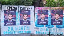 Die Wahlkampagne in Serbien in Juni 2020. Die Parlaments- und Kommunalwahlen in Serbien finden am 21. Juni statt. Foto: I. Petrović