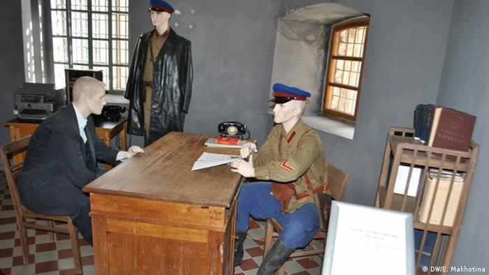 Сцена допроса в Музее оккупации Литвы