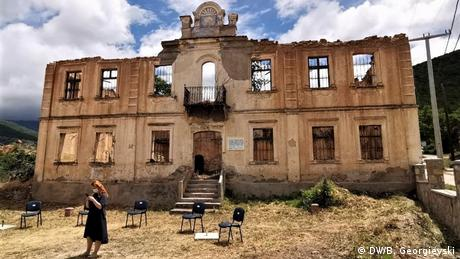 Nord-Mazedonien | Überreste der ersten mazedonischen Sprachschule in Ljubojno (DW/B. Georgievski)