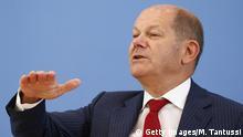 Berlin | Pressekonferenz: Bundesfinanzminister Olaf Scholz
