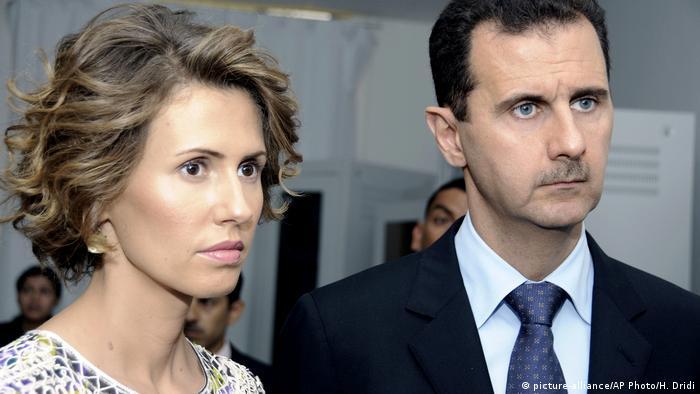 Башар Асад разом з дружиною Асмою