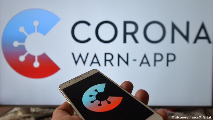 Додаток для смартфонів у Німеччині, який попереджає про можливість небезпеки заразитися коронавірусом