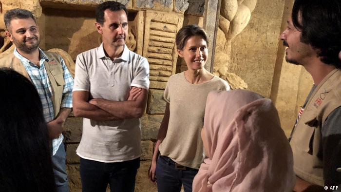 Bashar al-Assad und seine Frau Asma