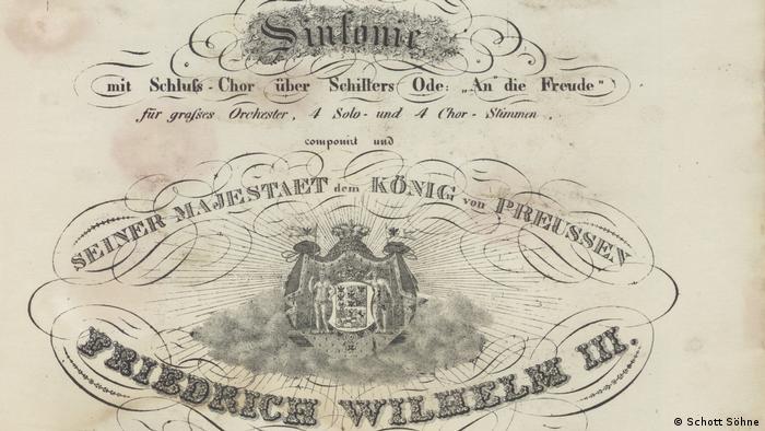 Titelblatt des Erstdrucks von Beethovens 9. Sinfonie (Schott Söhne)