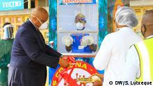 Mosambik Nampula | Testkabine Coronavirus | Metty Gondola, Staatssekretär