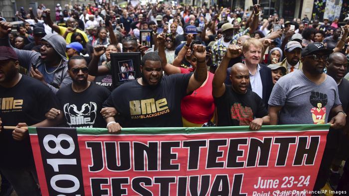 USA Pennsylvania Juneteenth Jahrestag (picture alliance/AP Images)