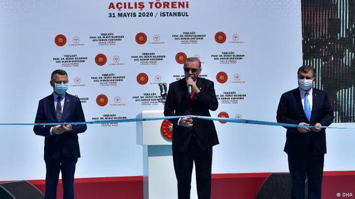Yapımı 45 günde tamamlanan hastane Erdoğan tarafından 31 Mayıs'da açılmıştı.