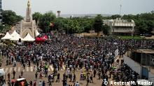 Mali   Massenprotest gegen den Rücktritt des malischen Präsidenten Ibrahim Boubacar Keita in Bamako