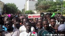 Mali | Massenprotest gegen den Rücktritt des malischen Präsidenten Ibrahim Boubacar Keita in Bamako