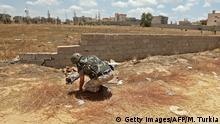 Libyen Krieg | Türkischer Soldat in Salah al-DIn
