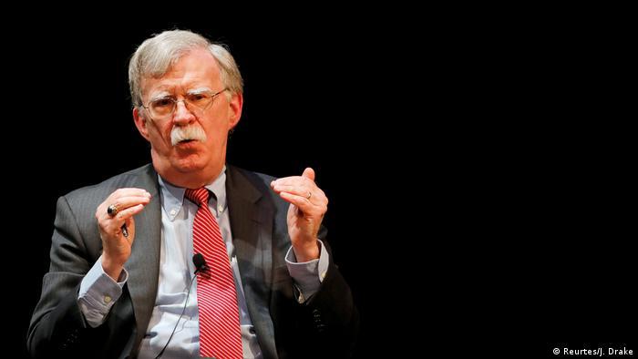 Former U.S. national security advisor John Bolton speaks during his lecture at Duke University in Durham, North Carolina, U.S. February 17, 2020. (Reurtes/J. Drake)