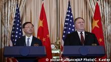 Yang Jiechi und Mike Pompeo China und USA