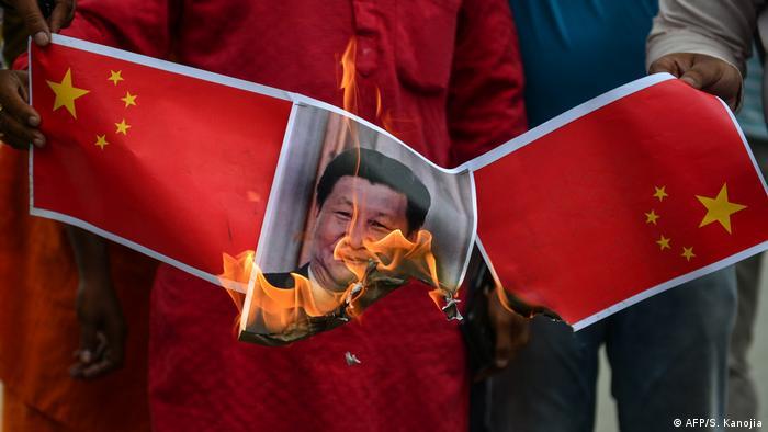 Indien Proteste gegen Grenzverletzungen durch China (AFP/S. Kanojia)
