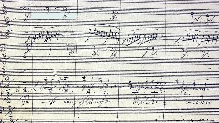 Partitur von Beethovens Neunter Sinfonie (picture-alliance/dpa)