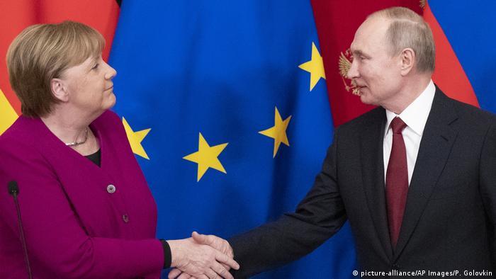 Almanya Başbakanı Merkel ve Rusya lideri Putin