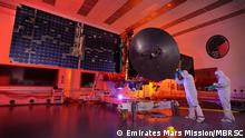 Emirates Mars Mission - Al-Amal Probe mit Solarpanels