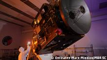 Emirates Mars Mission The Hope / Al-Amal Probe in a clean room.