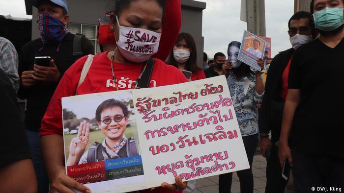 Thailand Bangkok | Demonstranten vor der kambodschanischen Botschaft