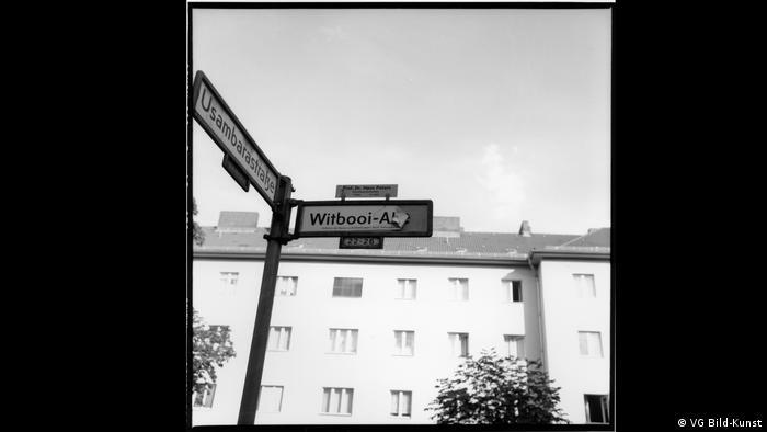 Photo by Akinbode Akinbiyi : half-torn 'Witbooi-Allee' sign