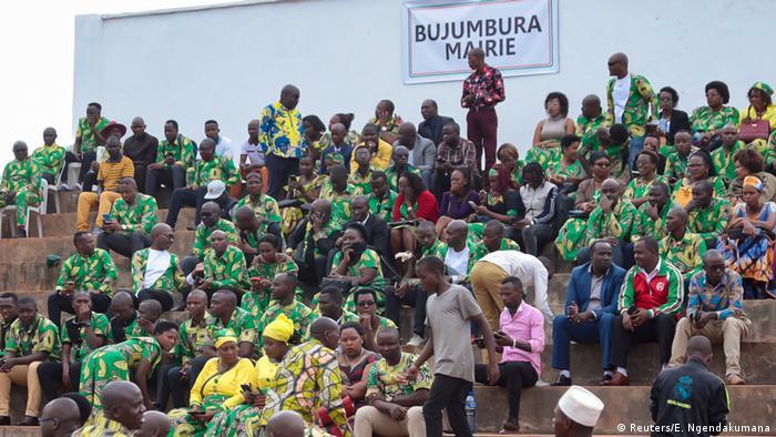 Burundi Vereidigung Präsident Evariste Ndayishimiye (Reuters/E. Ngendakumana)