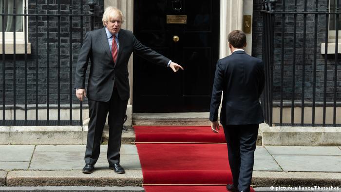 England London | Staatsbesuch: Emmanuel Macron und Boris Johnson (picture-alliance/Photoshot)