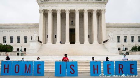 USA Washington   Demonstration vor dem obersten Gerichtshof zum erhalt des DACA Programms (Getty Images/D. Angerer)