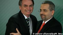 Brasilien Präsident Jair Bolsonaro und Bildungsminister Abraham Weintraub