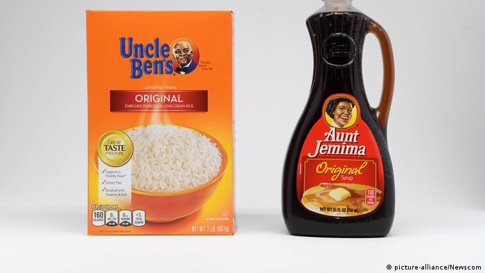 Uncle Ben's rice and Aunt Jamina syrup