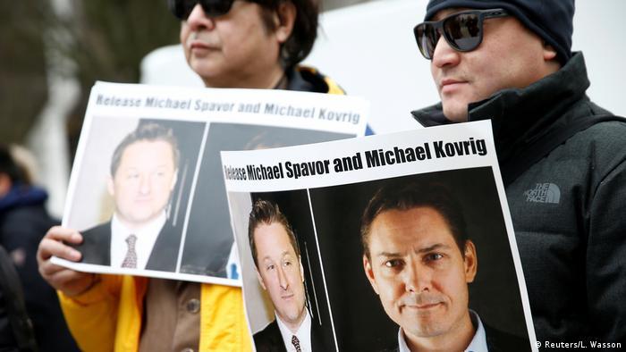 Kanada Vancouer | Menschen fordern Freilassung von Michael Kovrig und Michael Spavor