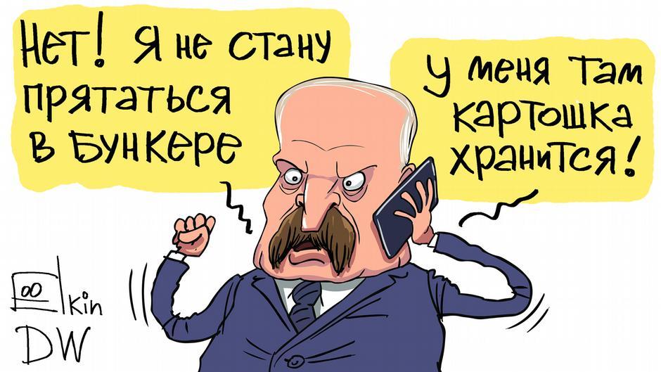 Karikatur von Sergey Elkin zu Lukaschenko Weißrussland