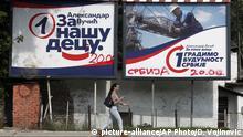 Serbien Wahlen   Wahlplakat