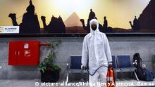 Ägypten Hurghada | Desinfektionsarbeiten am Hurghada International Airport