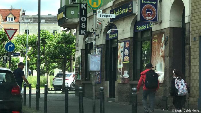 Rua em Dorstfeld em Dortmund