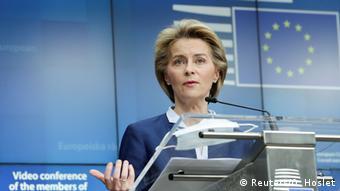 EU-Gipfel |Finanzhilfen Coronakrise |von der Leyen & Michel