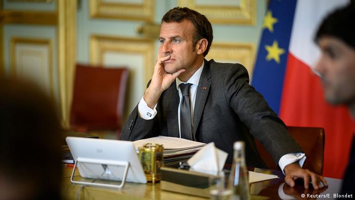 EU-Gipfel |Finanzhilfen Coronakrise |Paris |Emmauel Macron, Präsident