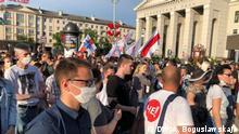Belarus Minsk | Protest gegen Verhaftung alternativer Wahlkandidaten