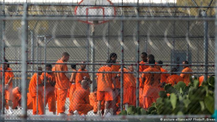 Prisoners at Arizona State Prison-Kingman in the USA