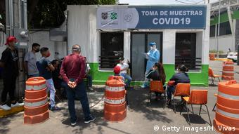 Тесты на коронавирус в Мехико