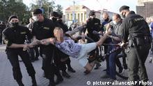 Weißrussland Minsk Proteste im Vorfeld der Präsidentschaftswahlen