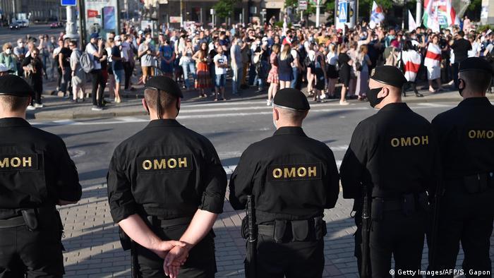 Weißrussland Minsk Proteste im Vorfeld der Präsidentschaftswahlen (Getty Images/AFP/S. Gapon)
