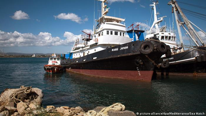 Seenotrettungsschiff Mare Jonio (picture-alliance/dpa/Mediterranea/Sea Watch)