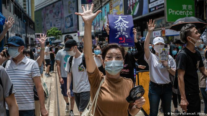 China: Proteste in Hongkong (picture-alliance/I. Abreu)