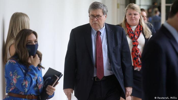 US Attorney General Bill Barr at the White House in June 2020. Reuters/Leah Millis