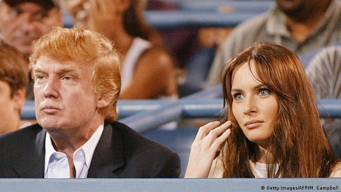 Дональд Трамп і Меланія Кнаус у 2002 році