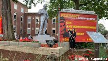Deutschland Gelsenkirchen |Enthüllung Statue von Wladimir Iljitsch Lenin