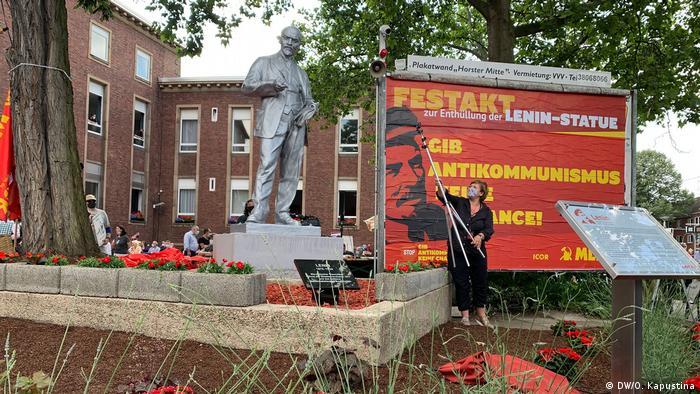Первый в западной Германии памятник Ленину установлен в Гельзенкирхене членами леворадикальной Марксистско-ленинской партии (МЛПГ)