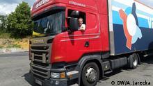 Deutschland Raststätte A59 |Thema Polnische LKW-Fahrer