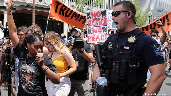 USA Wahlkampfveranstaltung Trump in Tulsa (Reuters/G. Tomasevic)